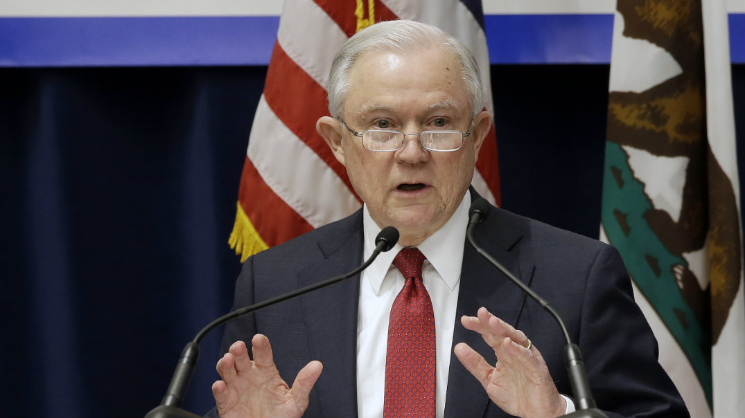 <strong>'There Is No Secession' <br>Sessions Blasts California for 'Sanctuary' Policies <br>  March 2018 | The Washington Post <br> Shared byline </strong>
